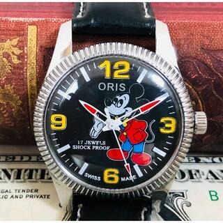 オリス(ORIS)のレア!ミッキー文字盤 ORISオリス1970'Sヴィンテージ メンズ腕時計(腕時計(アナログ))