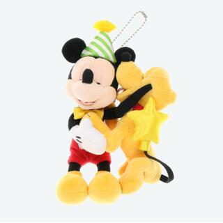 ミッキーマウス(ミッキーマウス)のミッキー バースデー ぬいぐるみバッジ(キャラクターグッズ)