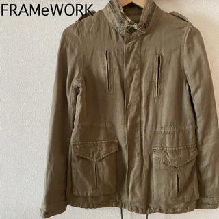 フレームワーク(FRAMeWORK)のFRAMeWORK フレームワーク ミリタリージャケット ライトアウター カーキ(ミリタリージャケット)