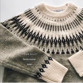 トゥデイフル(TODAYFUL)の【美品】ticog shop■ノルディックセーター/ニットプルオーバー/韓国(ニット/セーター)