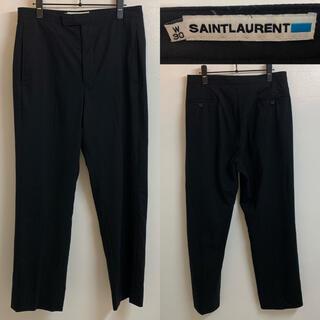 サンローラン(Saint Laurent)のSAINT LAURENT VINTAGE ポルトガル製 ストレッチスラックス(スラックス)