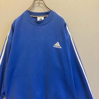 adidas - 90s adidas スウェット ブルー 刺繍 ゆるだぼ vintage