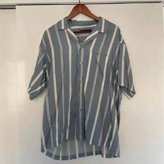 RAGEBLUE - オープンカラーシャツ ストライプ