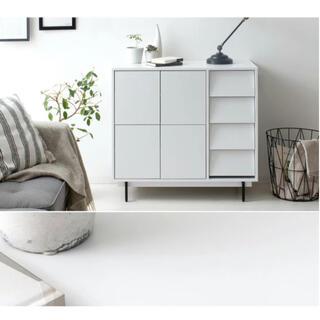 IKEA - エア・リゾーム 木製ラック おしゃれ キャビネット 収納棚 ホワイト