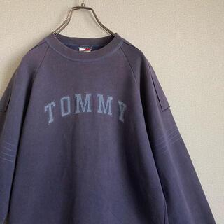 TOMMY HILFIGER - 90s トミーヒルフィガー XL プリント スウェット ゆるだぼ vintage