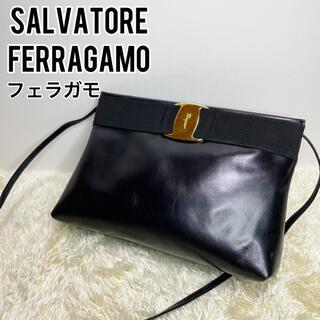 Salvatore Ferragamo - 極美品 フェラガモ SalvatoreFerragamo ショルダーバッグ 黒色