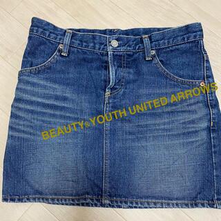 ビューティアンドユースユナイテッドアローズ(BEAUTY&YOUTH UNITED ARROWS)のBEAUTY&YOUTH UNITED ARROWS アローズ デニムスカート(ひざ丈スカート)