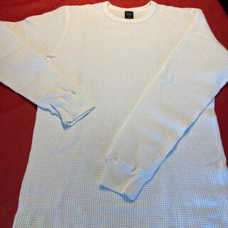 アヴィレックス(AVIREX)のアヴィレックス AVIREX ワッフルロンT ホワイト  試着のみ(Tシャツ/カットソー(七分/長袖))