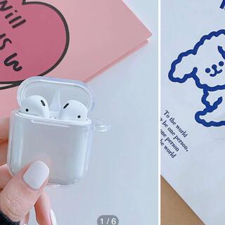 アップル(Apple)の透明 airpods ケース(ヘッドフォン/イヤフォン)