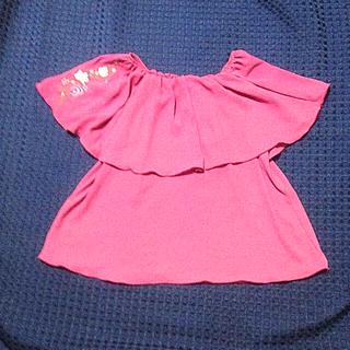 ケープスリーブ トップス(シャツ/ブラウス(半袖/袖なし))