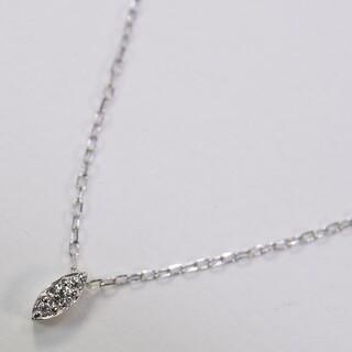 PonteVecchio - ポンテヴェキオ K18WG 0.05ct ダイヤモンド ネックレス