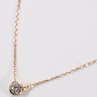 4℃ - K18ピンクゴールド ネックレス