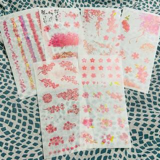 【M02】マステシートシール 6枚 桜(シール)