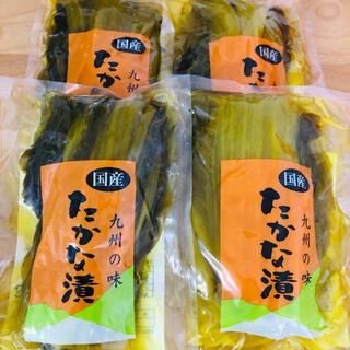 ★九州の味★ 国産 たかな漬 160g 4袋 | 高菜 漬物 しょうゆ漬け 醤油