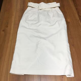 ローリーズファーム(LOWRYS FARM)のLOWRYS FARM フレアスカート 膝丈スカート L 白(ひざ丈スカート)