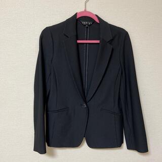 インディヴィ(INDIVI)のブラックセットアップスーツ(スーツ)