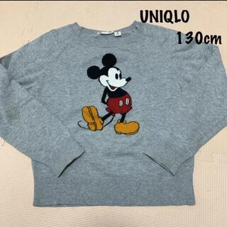 ユニクロ(UNIQLO)のUNIQLO:ミッキー ニット 130cm(ニット)