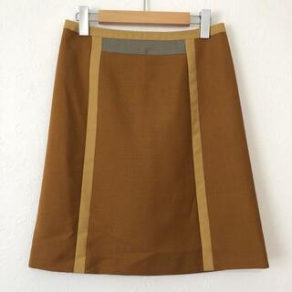 プラダ(PRADA)のPRADA プラダ 配色デザイン モヘア ウール混 ひざ丈 スカート(ひざ丈スカート)