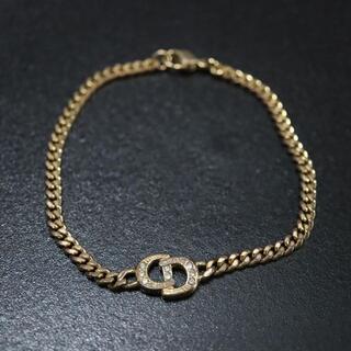 クリスチャンディオール(Christian Dior)の✨良品✨ ディオール ロゴ ブレスレット ゴールド ラインストーン(ブレスレット/バングル)