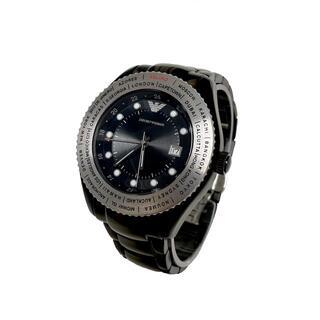 エンポリオアルマーニ(Emporio Armani)の【未使用】EMPORIO ARMANI AR0587 GMT機能付 腕時計(腕時計(アナログ))
