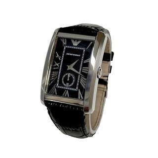 エンポリオアルマーニ(Emporio Armani)の【未使用】EMPORIO ARMANI AR1604 レザーベルト 腕時計(腕時計(アナログ))