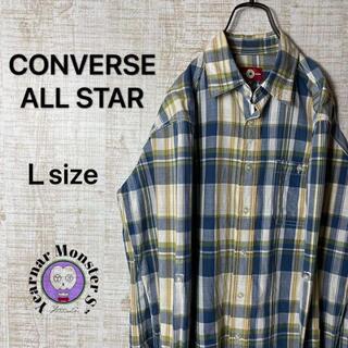CONVERSE - converse コンバース マドラスチェック柄 シャツ All star