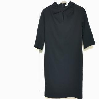 フレームワーク(FRAMeWORK)の《新品》FIGARO フィガロパリ ブラックドレス レースワンピース 黒(ひざ丈ワンピース)