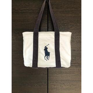 ポロラルフローレン(POLO RALPH LAUREN)のPolo Ralph Lauren ポロラルフローレン トートバッグ 白×紺(トートバッグ)