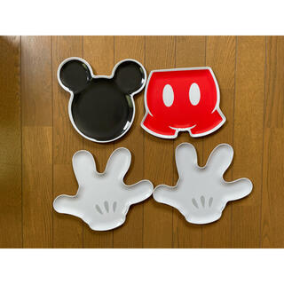 Disney - ミッキー メラミンプレート〈4枚セット〉
