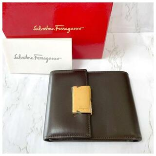 Salvatore Ferragamo - 箱付き【未使用】Salvatore Ferragamo 三つ折り財布 レザー