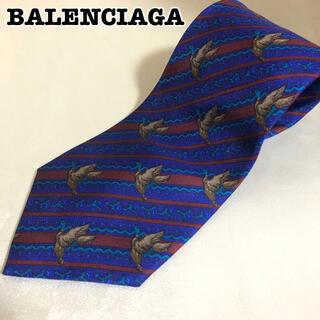 Balenciaga - BALENCIAGA ネクタイ 総柄 ロゴ シルク ヴィンテージ アニマル