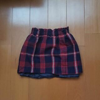 ボンポワン(Bonpoint)の値下げ【美品】ボンポワン★赤チェックスカート★4A(スカート)
