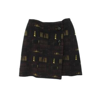 プラダ(PRADA)のプラダ ボールボタンデザイン総柄スカート(ひざ丈スカート)