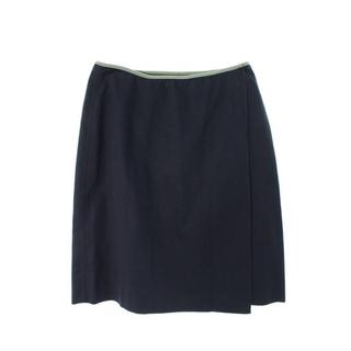 プラダ(PRADA)のプラダ パイピングコットン巻きスカート 42(ひざ丈スカート)