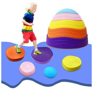 バランスストーン 子供用 室内トレーニング 安全 スポーツ アウトドア 屋内(トレーニング用品)