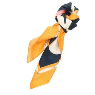 ブルガリ(BVLGARI)のブルガリ ターバン柄シルクスカーフ(バンダナ/スカーフ)