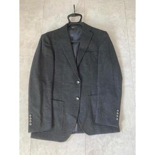 アオキ(AOKI)のAOKI 青木 ジャケット チャコールグレー グレー パッチポケット 起毛 Y5(テーラードジャケット)