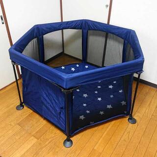 ニホンイクジ(日本育児)の日本育児 洗えてたためるポータブルベビーサークル 付属品完備(ベビージム)