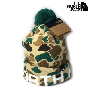 ザノースフェイス(THE NORTH FACE)のノースフェイス ニット帽 帽子 US限定 防寒 アウトドア 緑 茶 180623(ニット帽/ビーニー)