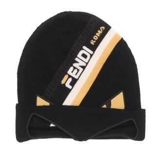 フェンディ(FENDI)のフェンディ FXQ056 A66T モンスターデザインビーニーニットキャップ(ニット帽/ビーニー)