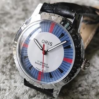 オリス(ORIS)のオリス ORIS ブルー シルバー 17石 3針 1970s 整備済 機械式(腕時計(アナログ))