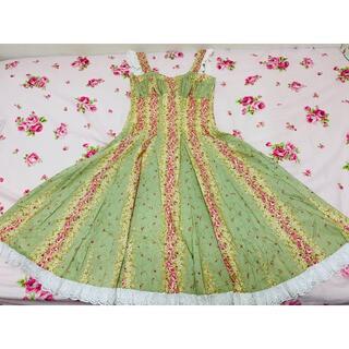 ヴィクトリアンメイデン(Victorian maiden)のEXCENTRIQUE エクサントリーク ジャンパースカート(ひざ丈ワンピース)