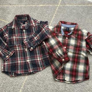 ベビーギャップ(babyGAP)のチェックシャツ まとめ売り ベビーGAP 95 100(ブラウス)