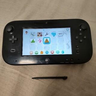 ウィーユー(Wii U)のWiiUゲームパッド 黒 のみ(タッチペン付き) 動作確認済み(家庭用ゲーム機本体)