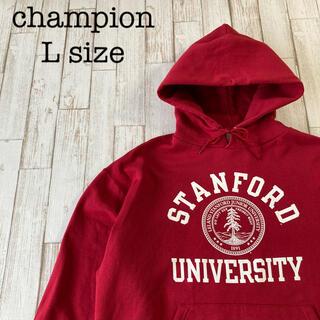 チャンピオン(Champion)のchampion スウェットパーカー STANFORD カレッジロゴ フーディ (パーカー)