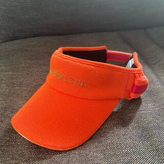 マークアンドロナ(MARK&LONA)のマーク&ロナ サンバイザー 美品 ゴルフウェアーMARK&LONA(その他)
