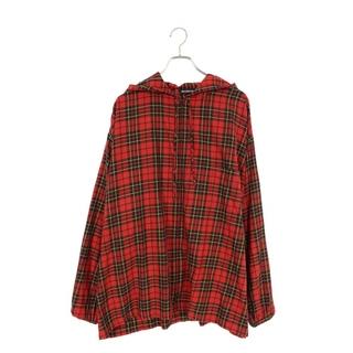 バレンシアガ(Balenciaga)のバレンシアガ チェック総柄フード付きオーバーサイズ長袖シャツ(シャツ)