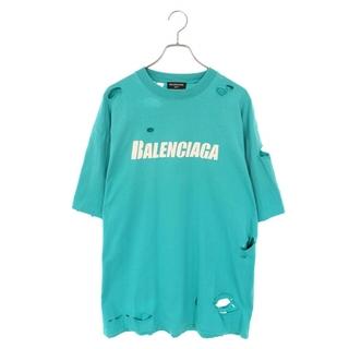 Balenciaga - バレンシアガ 21SS 651795 TKVB8 デストロイ加工ロゴTシャツ