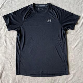 UNDER ARMOUR - アンダーアーマー 半袖 Tシャツ 黒 ブラック ランニング ヒートギア L