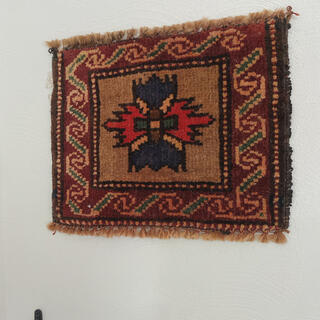 ロンハーマン(Ron Herman)の68 ミニラグ オールド絨毯 トライバルラグ インテリア キリム ヴィンテージ(ラグ)